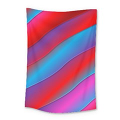 Diagonal Gradient Vivid Color 3d Small Tapestry