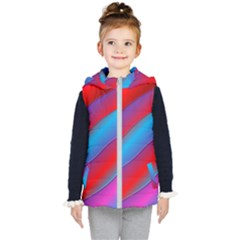 Diagonal Gradient Vivid Color 3d Kid s Puffer Vest