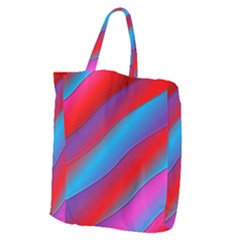 Diagonal Gradient Vivid Color 3d Giant Grocery Zipper Tote by BangZart