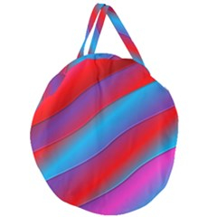 Diagonal Gradient Vivid Color 3d Giant Round Zipper Tote by BangZart
