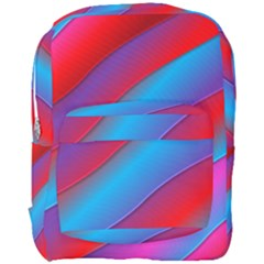 Diagonal Gradient Vivid Color 3d Full Print Backpack by BangZart