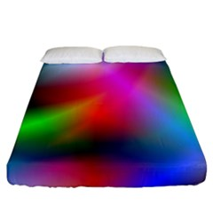 Course Gradient Background Color Fitted Sheet (california King Size)