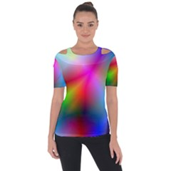 Course Gradient Background Color Short Sleeve Top