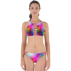 Course Gradient Background Color Perfectly Cut Out Bikini Set