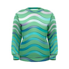 Abstract Digital Waves Background Women s Sweatshirt