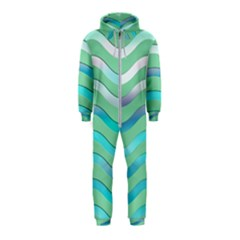 Abstract Digital Waves Background Hooded Jumpsuit (kids)