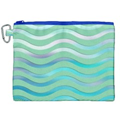 Abstract Digital Waves Background Canvas Cosmetic Bag (xxl)