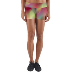 Colorful Colors Wave Gradient Yoga Shorts by BangZart