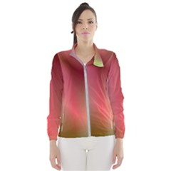Colorful Colors Wave Gradient Wind Breaker (women)