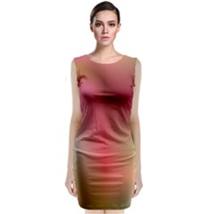Colorful Colors Wave Gradient Classic Sleeveless Midi Dress