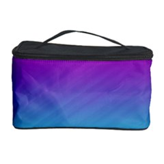Background Pink Blue Gradient Cosmetic Storage Case by BangZart