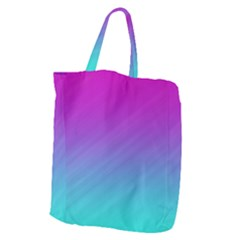 Background Pink Blue Gradient Giant Grocery Zipper Tote