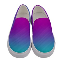 Background Pink Blue Gradient Women s Canvas Slip Ons