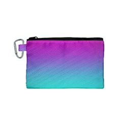 Background Pink Blue Gradient Canvas Cosmetic Bag (small)