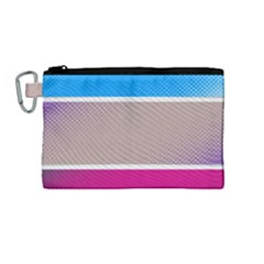 Pattern Template Banner Background Canvas Cosmetic Bag (medium)