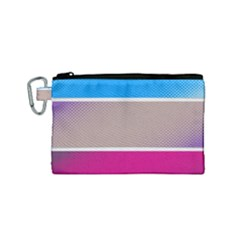Pattern Template Banner Background Canvas Cosmetic Bag (small)