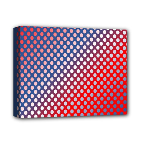 Dots Red White Blue Gradient Deluxe Canvas 14  X 11  by BangZart