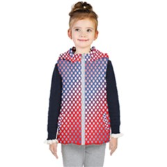 Dots Red White Blue Gradient Kid s Puffer Vest by BangZart