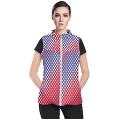 Dots Red White Blue Gradient Women s Puffer Vest