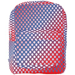 Dots Red White Blue Gradient Full Print Backpack