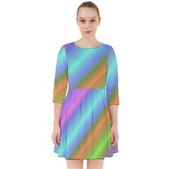 Background Course Abstract Pattern Smock Dress