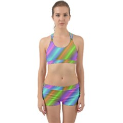 Background Course Abstract Pattern Back Web Sports Bra Set by BangZart