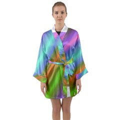Background Course Abstract Pattern Long Sleeve Kimono Robe by BangZart