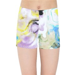 Watercolour Watercolor Paint Ink Kids Sports Shorts by BangZart
