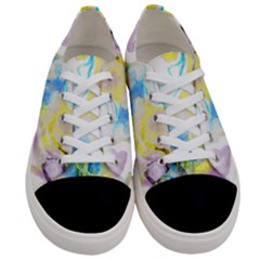 Watercolour Watercolor Paint Ink Women s Low Top Canvas Sneakers