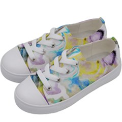 Watercolour Watercolor Paint Ink Kids  Low Top Canvas Sneakers by BangZart