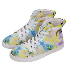 Watercolour Watercolor Paint Ink Women s Hi-top Skate Sneakers by BangZart