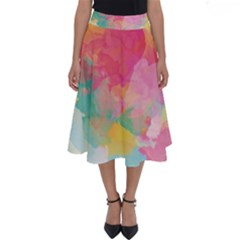 Watercolour Gradient Perfect Length Midi Skirt by BangZart