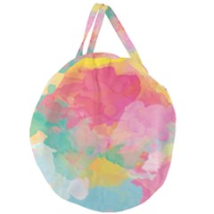Watercolour Gradient Giant Round Zipper Tote