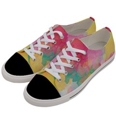 Watercolour Gradient Women s Low Top Canvas Sneakers by BangZart