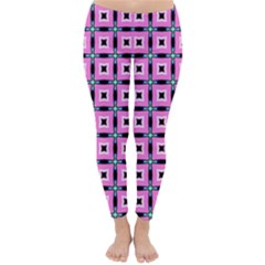 Pattern Pink Squares Square Texture Classic Winter Leggings