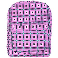Pattern Pink Squares Square Texture Full Print Backpack