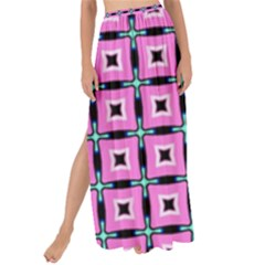 Pattern Pink Squares Square Texture Maxi Chiffon Tie-up Sarong