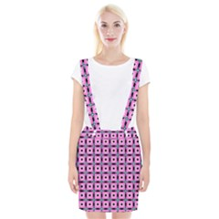 Pattern Pink Squares Square Texture Braces Suspender Skirt