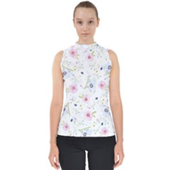 Floral Pattern Background Shell Top by BangZart