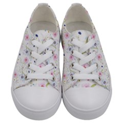 Floral Pattern Background Kids  Low Top Canvas Sneakers