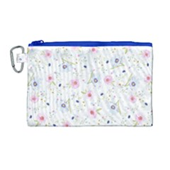 Floral Pattern Background Canvas Cosmetic Bag (large) by BangZart
