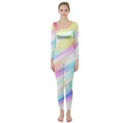 Background Course Abstract Pattern Long Sleeve Catsuit