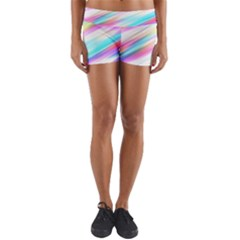 Background Course Abstract Pattern Yoga Shorts