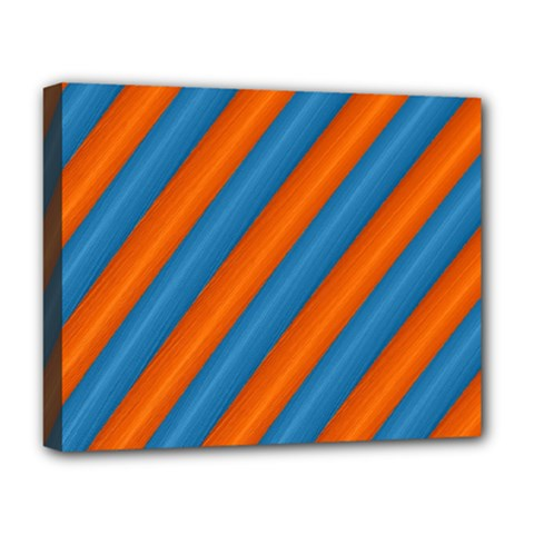 Diagonal Stripes Striped Lines Deluxe Canvas 20  X 16