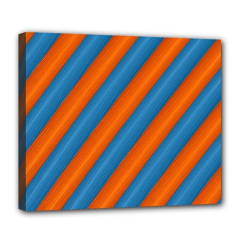 Diagonal Stripes Striped Lines Deluxe Canvas 24  X 20