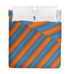 Diagonal Stripes Striped Lines Duvet Cover Double Side (full/ Double Size)