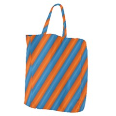 Diagonal Stripes Striped Lines Giant Grocery Zipper Tote