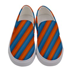 Diagonal Stripes Striped Lines Women s Canvas Slip Ons