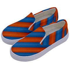 Diagonal Stripes Striped Lines Kids  Canvas Slip Ons by BangZart