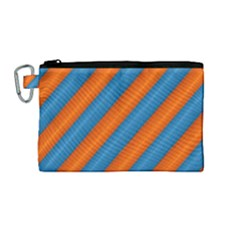 Diagonal Stripes Striped Lines Canvas Cosmetic Bag (medium) by BangZart